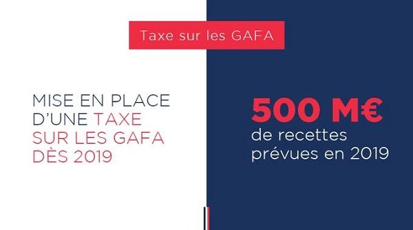GAFAM : les géants du web seront taxés en 2019 en France, et bientôt en Europe ? - Crédit photo : compte Twitter @GouvernementFR