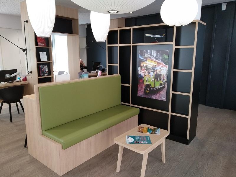 La première agence aux couleurs du nouveau concept est située dans le siège social, mais avec un accès dédié - DR : Richou Voyages