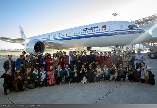 Air China reçoit son sixième Airbus A350-900 - Crédit photo : Air China
