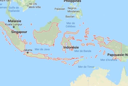 Vents et pluie : appel à vigilance dans l'archipel indonésien - DR