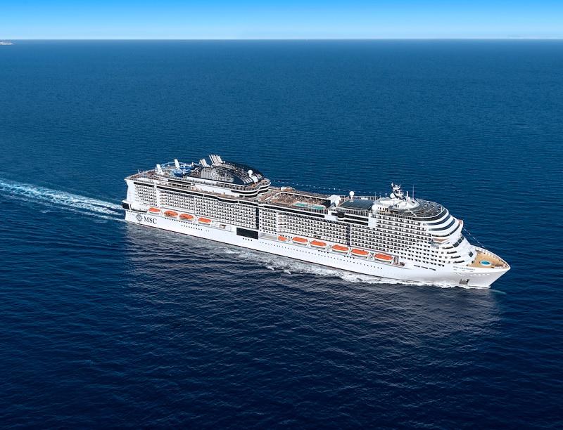 Le MSC Grandiosa, premier des trois navires de la classe Meraviglia-Plus, commencera à naviguer sur des itinéraires réguliers dès le 16 novembre 2019, au départ de Gênes - DR : MSC Croisières