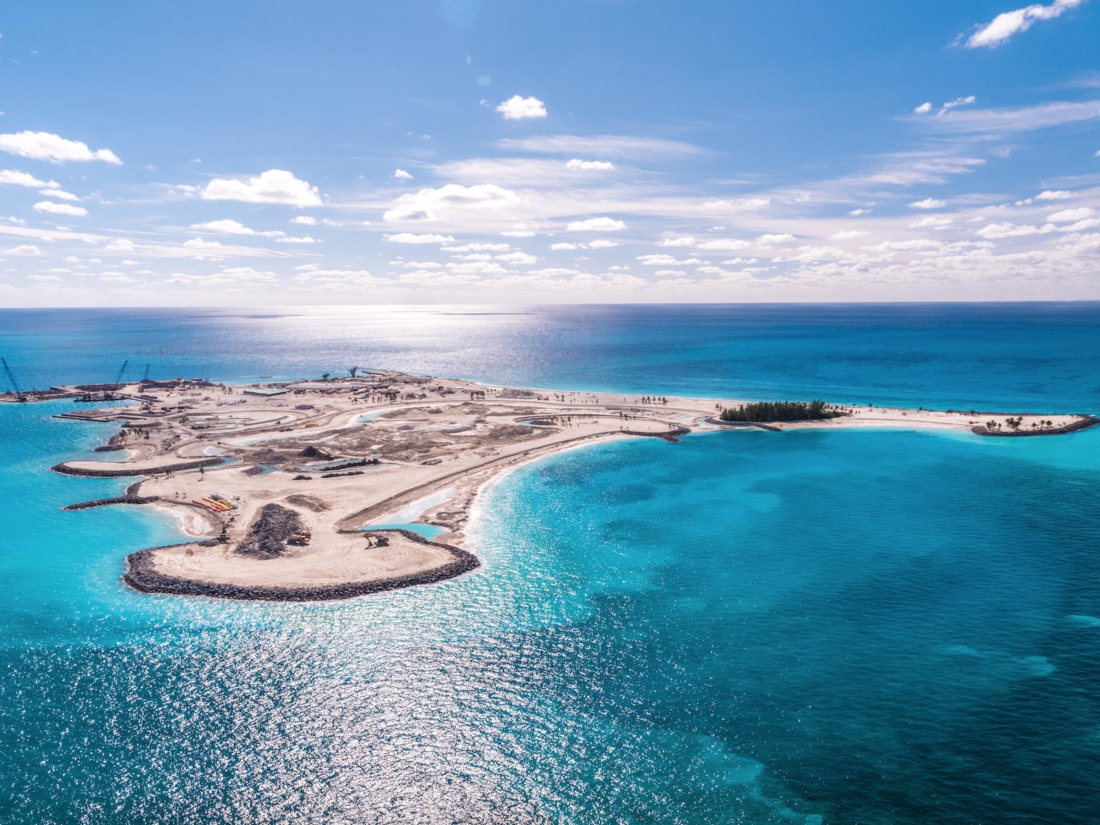 Ocean Cay, ile privée située dans les Caraïbes, s'apprête à accueillir ses premiers clients cette année © Conrad Schutt
