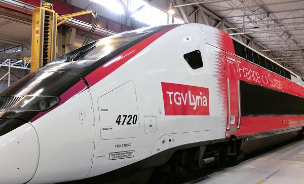 TGV Lyria dévoile les couleurs de sa nouvelle flotte - Crédit photo : Lyria