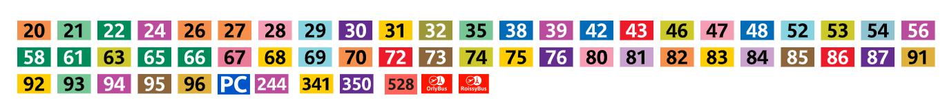 Les lignes de bus qui ne fonctionneront pas ce samedi - cliquer sur l'image pour zoomer