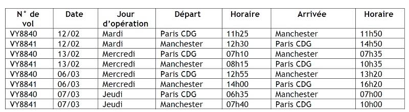 Ligue des Champions : Vueling met en place des vols spéciaux entre Paris et Manchester