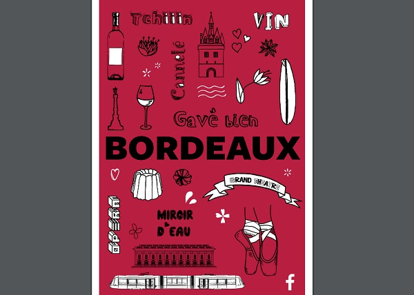 Facebook se lance dans le guide de voyage papier en France - Crédit photo : capture écran du guide de Bordeaux