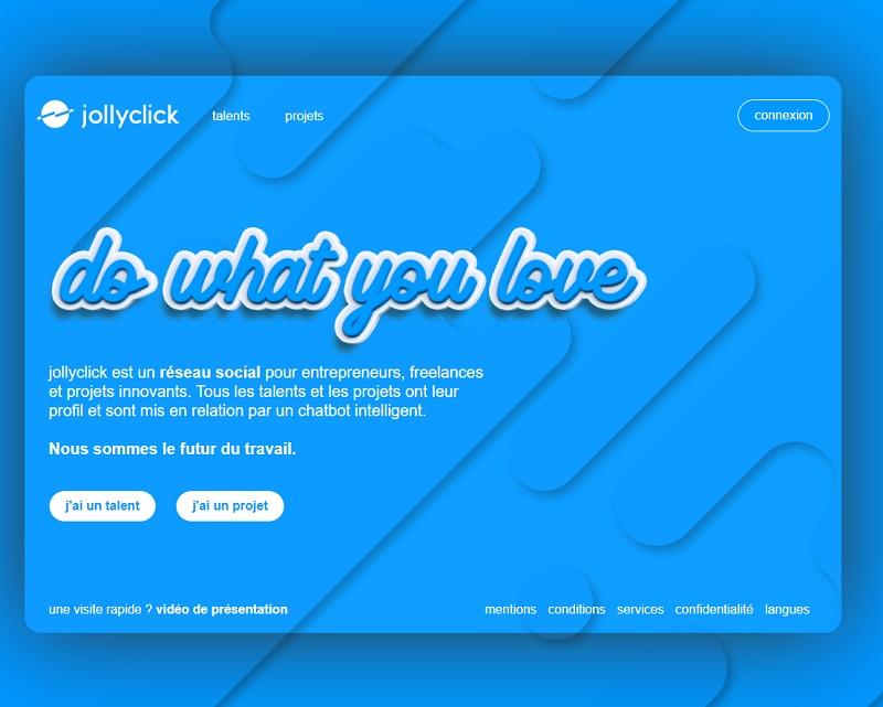 100% Made in France, la solution Jollyclick met en relation des porteurs de projets avec des talents - DR : Jollyclick