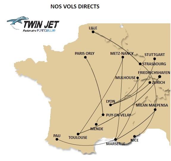 Twin Jet relie Strasbourg à Milan