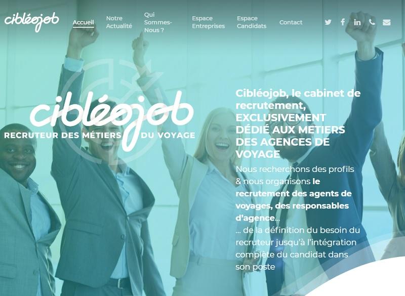 Lancé en janvier 2019, Cibleojob est un cabinet de recrutement dédié aux agents de voyages. - Cibleojob