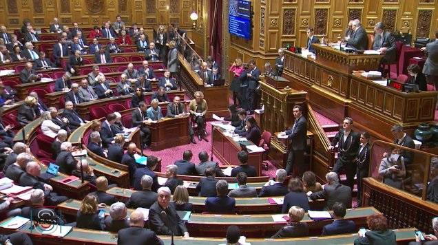 ADP,  le Sénat vote massivement contre la privatisation des aéroports parisiens - Crédit photo : compte Twitter @Senat