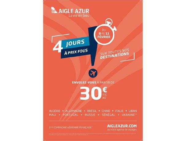 Aigle Azur casse ses prix jusqu'au 11 février 2019 - Crédit photo : Aigle Azur