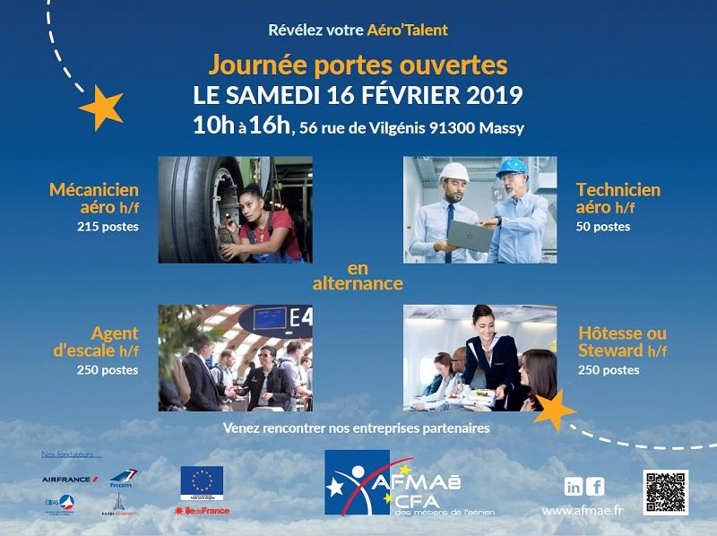 Le CFA des Métiers de l'Aérien organise sa Journée Portes ouvertes à Massy, le samedi 16 février prochain de 10h à 16h - DR : Afmaé