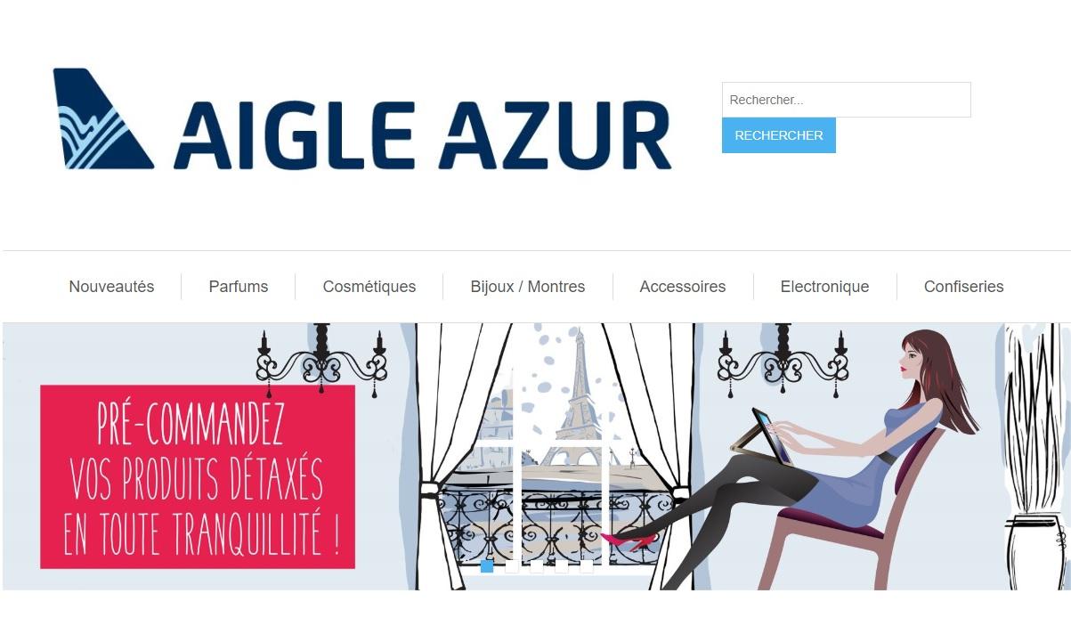 Aigle Azur livre les commandes de produits détaxés à bord de ses avions - Crédit photo : Aigle Azur
