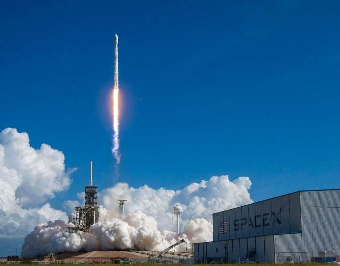 Lancement d'une fusée Space X à Cap Canaveral - Floride - États-Unis © SpaceX/Alamy/hemis.fr
