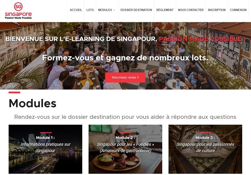 Le nouvel e-learning de Singapour est ouvert aux agents de voyages - DR Capture écran