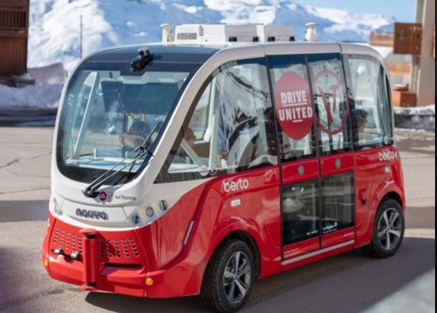 NAVYA et les Autocars Bertolami, ouvre le champ des possibles de la mobilité autonome non polluante en montagne... /Crédit photo dr