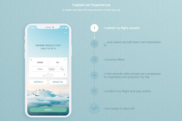 CaptainJet propose de réserver des avions privés depuis son application - Crédit photo : CaptainJet
