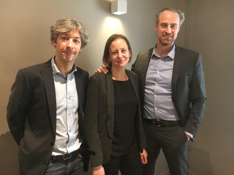 Yannick Barde, Florence Ichkhan, chef de marché et Guillaume Linton, directeur général d'Asia. - CL