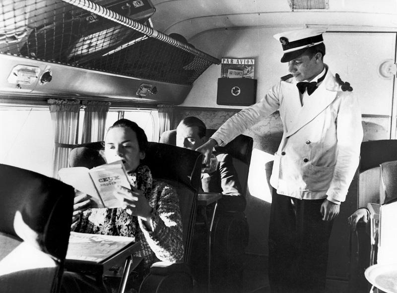 Steward en Dewatine (1937) - DR : Collection musée Air France