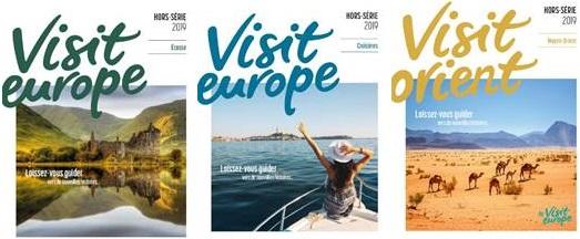 Les 3 mini-brochures éditées par Visit Europe - DR