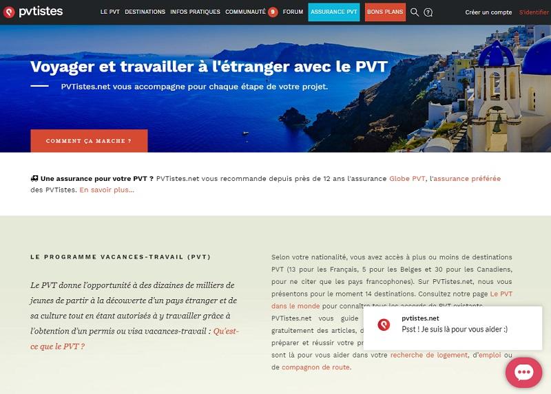 Le site PVtistes.net est un guide pour les jeunes qui souhaitent bénéficier du Programme Vacances-Travail - DR
