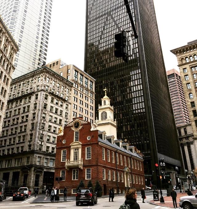 L'Old State House (ou ancien capitole) est un bâtiment historique situé au cœur de Boston. - CL