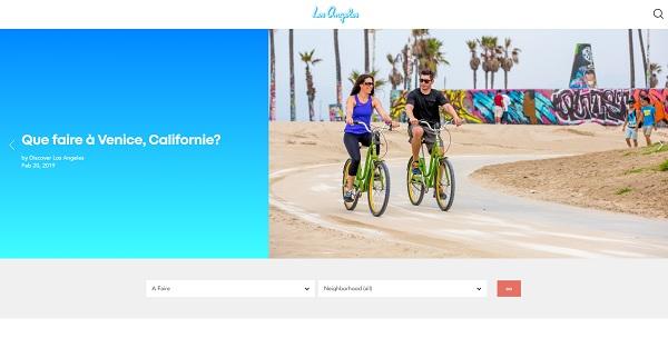 """L'OT de Los Angeles s'offre un nouveau site et vise les """"Parennials"""" - Crédit photo : discoverlosangeles.com/fr"""
