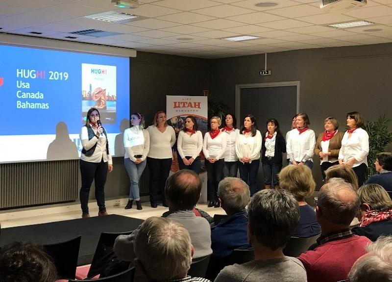 Les 12 conseillères voyages Salaün Holidays et Nationaltours, co-animatrices de la soirée à Lorient - DR : Salaün Holidays