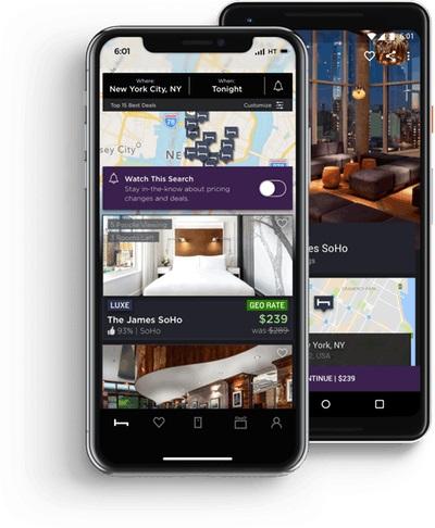 L'application HotelTonight - DR