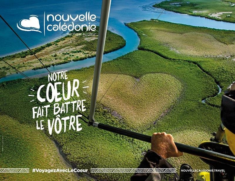 Intitulée «Notre cœur fait battre le vôtre», la campagne de communication s'illustre avec le Cœur de Voh, qui a fait le tour du monde - DR : Nouvelle-Calédonie Tourisme Point Sud