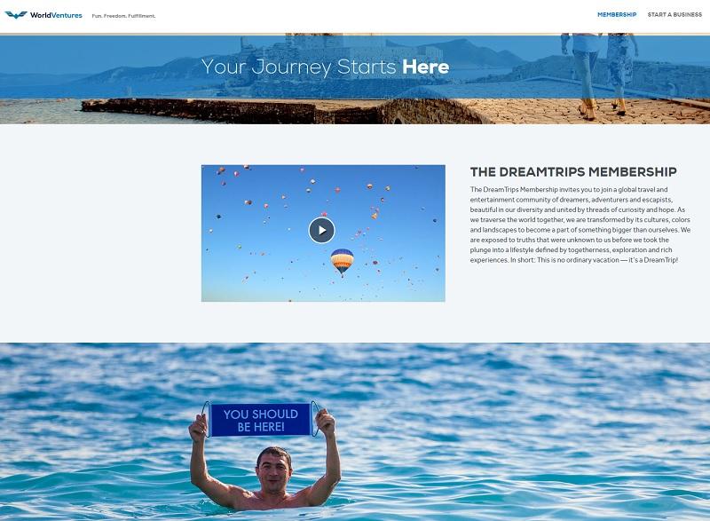 Face à la montée en puissance de DreamTrips ou MWR Life sur les réseaux sociaux, on se demande bien ce que compte faire le gouvernement pour protéger les consommateurs... - DR : Capture d'écran DreamTrips