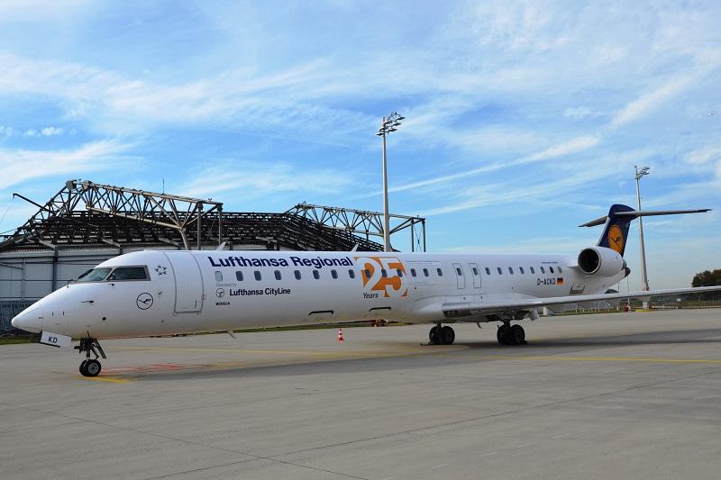 Les vols seront opérés avec un Bombardier CRJ900 de 90 sièges de Lufthansa CityLine - DR : Lufthansa Group