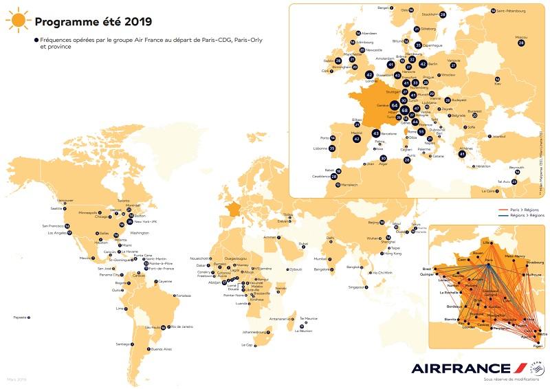 Etats-Unis, Japon, Corse, Italie, Grèce... Air France-KLM dévoile son programme pour l'été 2019