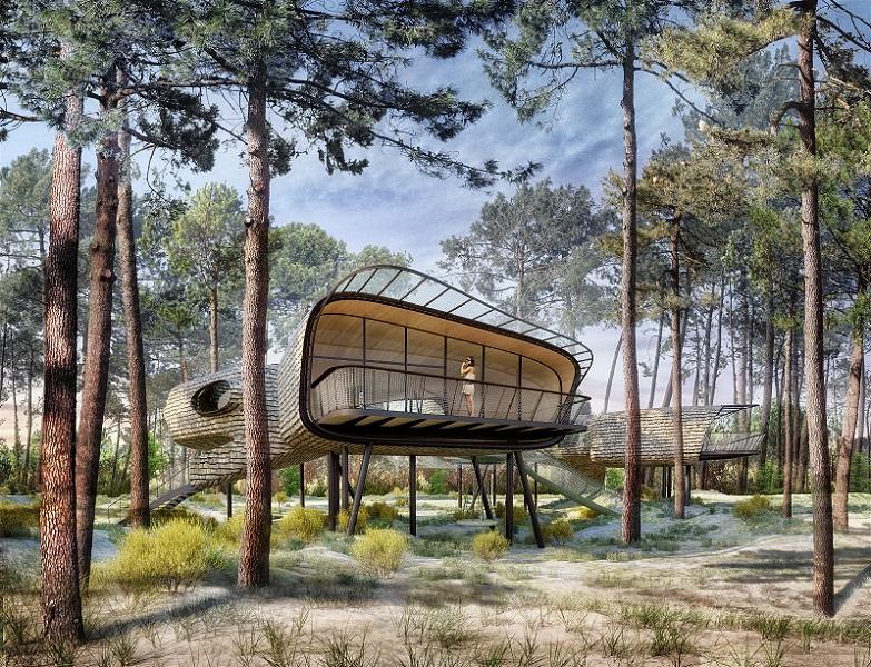 Center Parcs proposera des hébergements insolites dans son futur domaine du Lot-et-Garonne. Il ouvrira en 2021. - Center Parcs