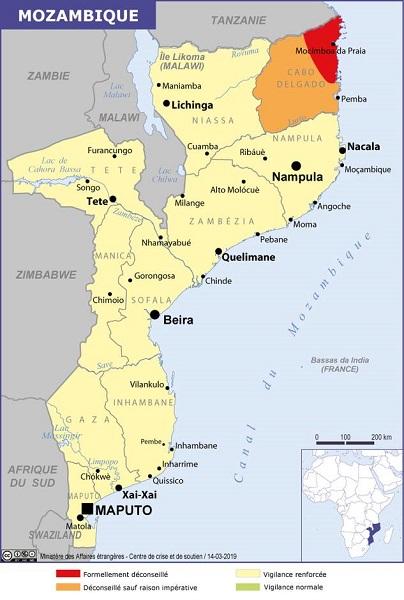 """Mozambique : le Quai d'Orsay recommande de """"reporter tout déplacement"""" dans certaines provinces - Crédit photo : France-Diplomatie"""