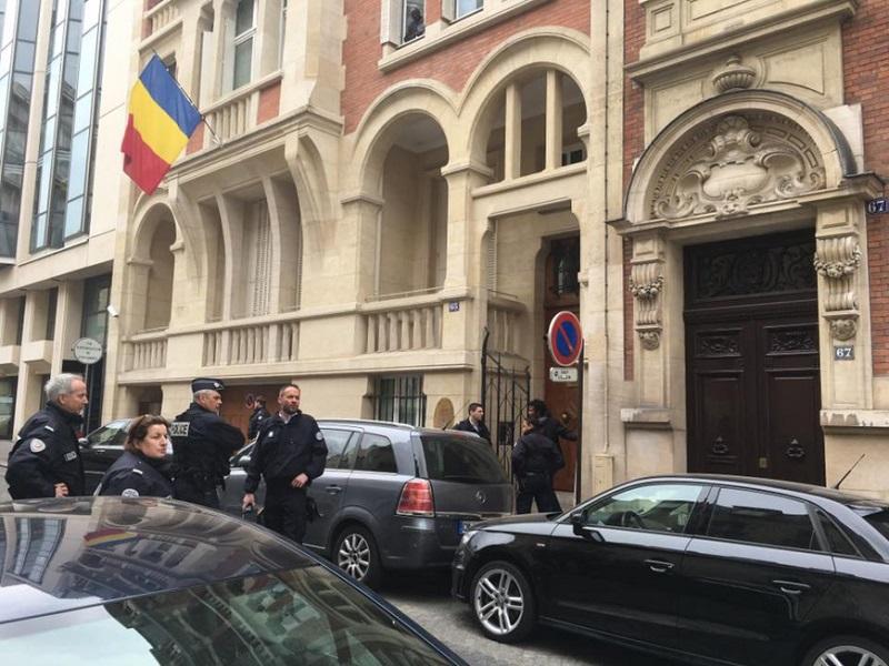 Dégradations au sein de l'ambassade du Tchad à Paris - DR