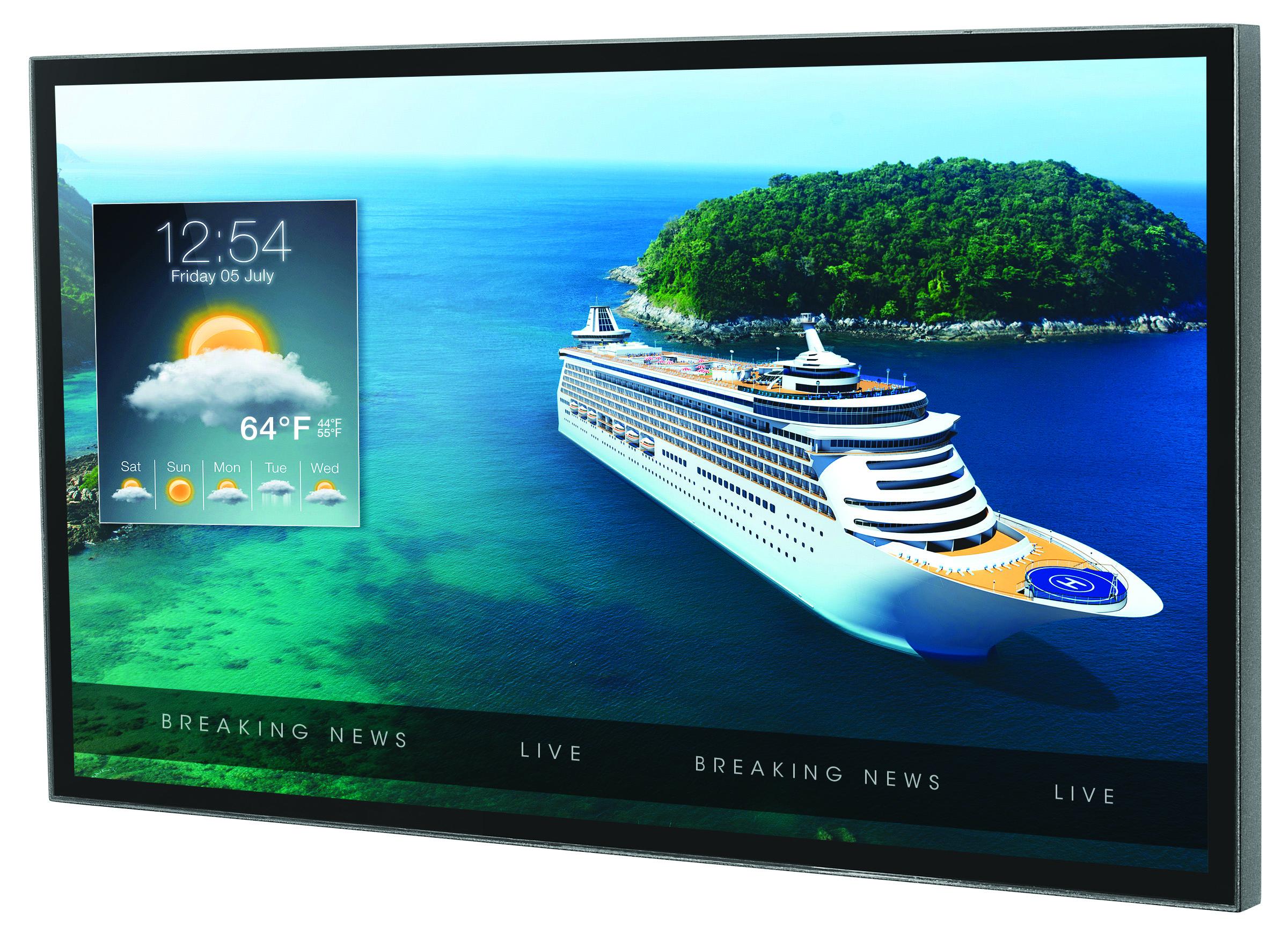 Une gamme de quatre tailles d'écrans pour l'affichage en intérieur et en extérieur. / crédit photo Peerless AV