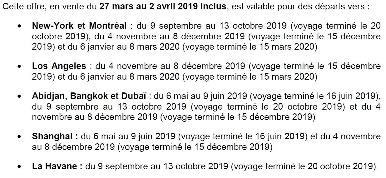 Air France - KLM : des offres promotionnelles sur les vols long-courriers
