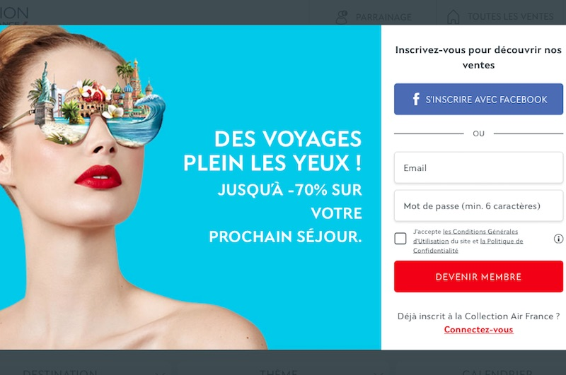 Air France propose des ventes privées sur son site Collection Air France - DR