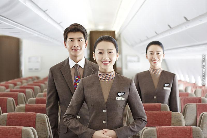 Le personnel d'Asiana Airlines à votre écoute