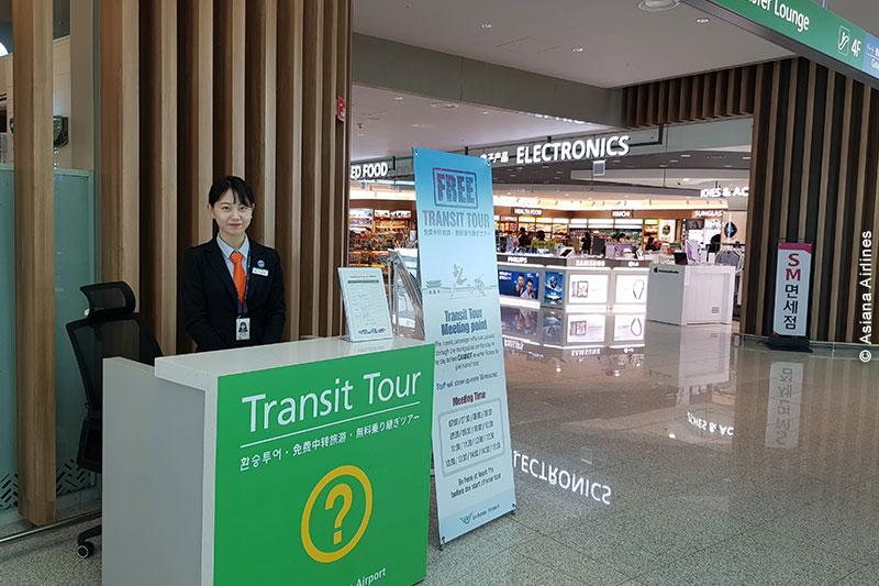 un des nombreux comptoirs vous accueillant pour le Transit Tour