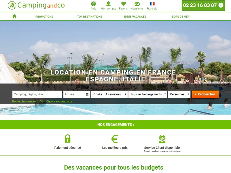 Le site de Camping-and-co - DR