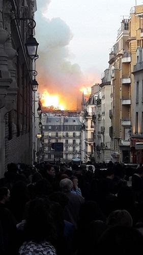 L'incendie de Notre-Dame vu du Panthéon - DR TS