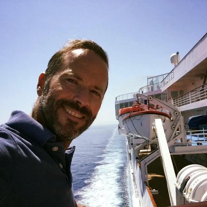 A bord du Celestyal, Clément Mousset directeur général de Celestyal Cruises France. Collection Celestyal Cruises.