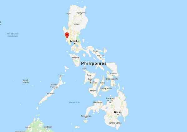 Les secousses ont été ressenties dans l'agglomération de Manille, située à environ 80 kilomètres de l'épicentre - DR google Map