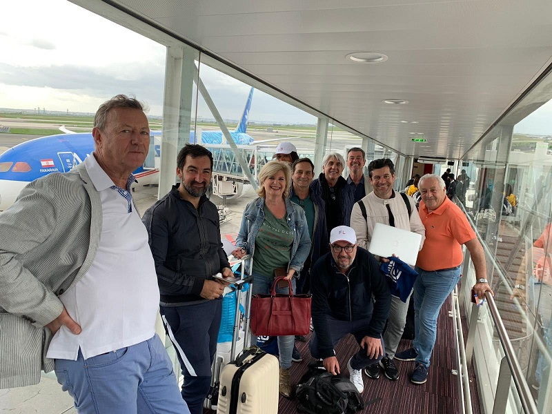 La délégation française de pros du tourisme au départ, direction la California Cup 2019 - DR