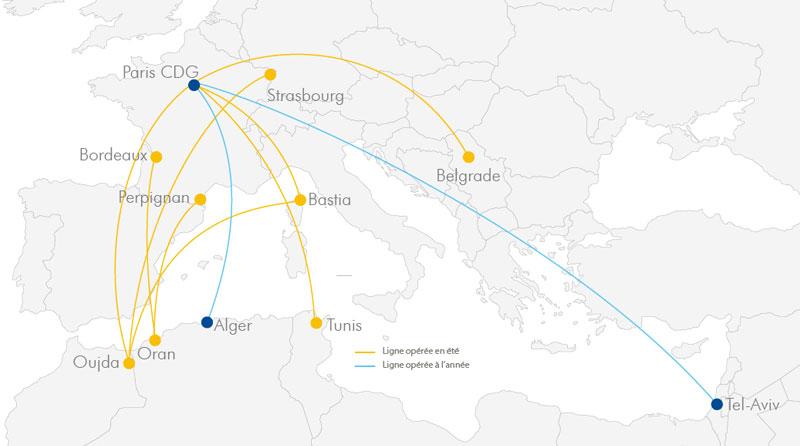 Réseau 2019 Vols réguliers ASL Airlines France ©ASL Airlines France