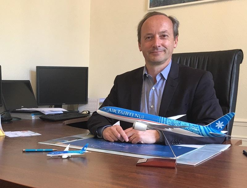 """Jean-Marc Hastings : """"ATN est le spécialiste de la Polynésie et nous sommes donc très proches des voyagistes et des réseaux de distribution. Avec eux, la relation commerciale est forte, nous les accompagnons pour stimuler le marché"""" - DR : C.H."""