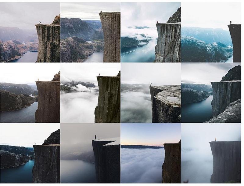 De nombreux voyageurs recherchent l'expérience unique, le spot où on les voit seul au monde, à poster sur Instagram. Et pourtant, ils ne sont pas si uniques. Alors, quel est l'intérêt ? - DR : Photo Instagram Insta_Repeat