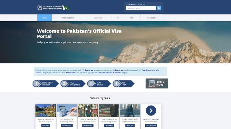Portail gouvernemental du e-Visa pakistanais - @visa.nadra.gov.pk